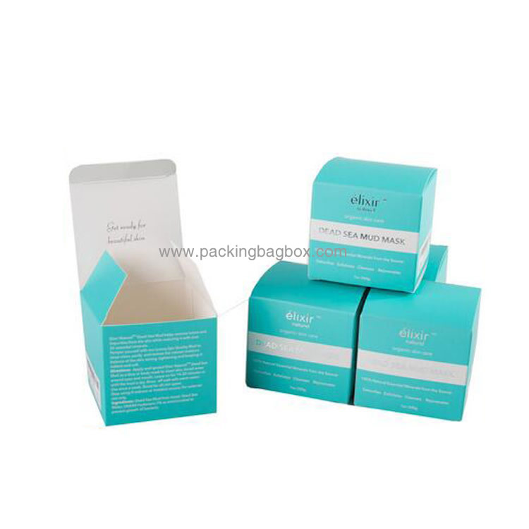 Folding cosmetic paper packaging box 12179